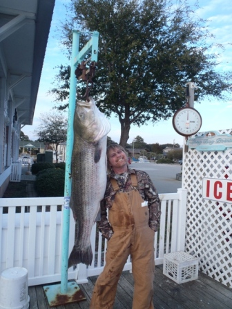 Cary Wolfe of Bristow Striped Bass Record 1-20-12