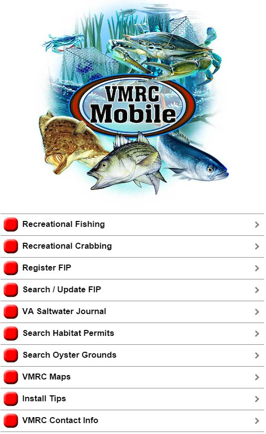 Virginia marine resources commission recreational fishing for Va fishing license price