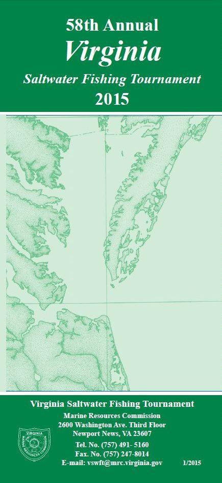 Vmrc saltwater fishing regulations for Virginia fishing license